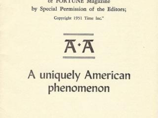 """A.A. """"A Uniquely American Phenomenon"""""""