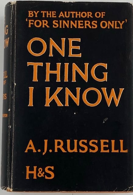 One Thing I Know by A.J. Russell