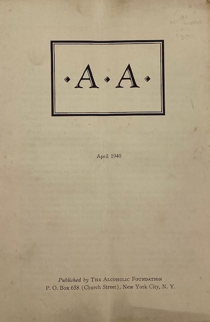 Front Cover of April 1940 AA Pamphlet