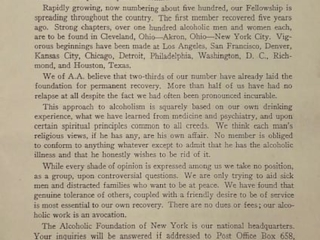 Page 1 of the April 1940 AA Pamphlet