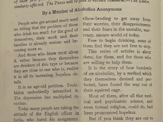 """Story of a """"Way Out"""" for Hopeless Drinkers"""